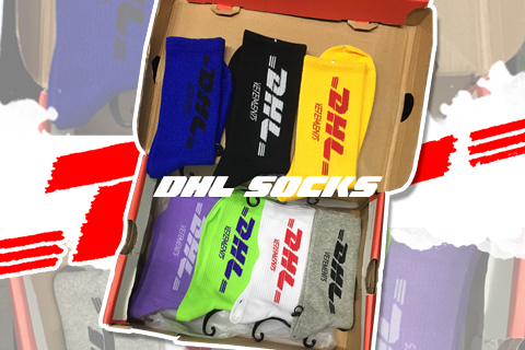 DHL big lettering socks