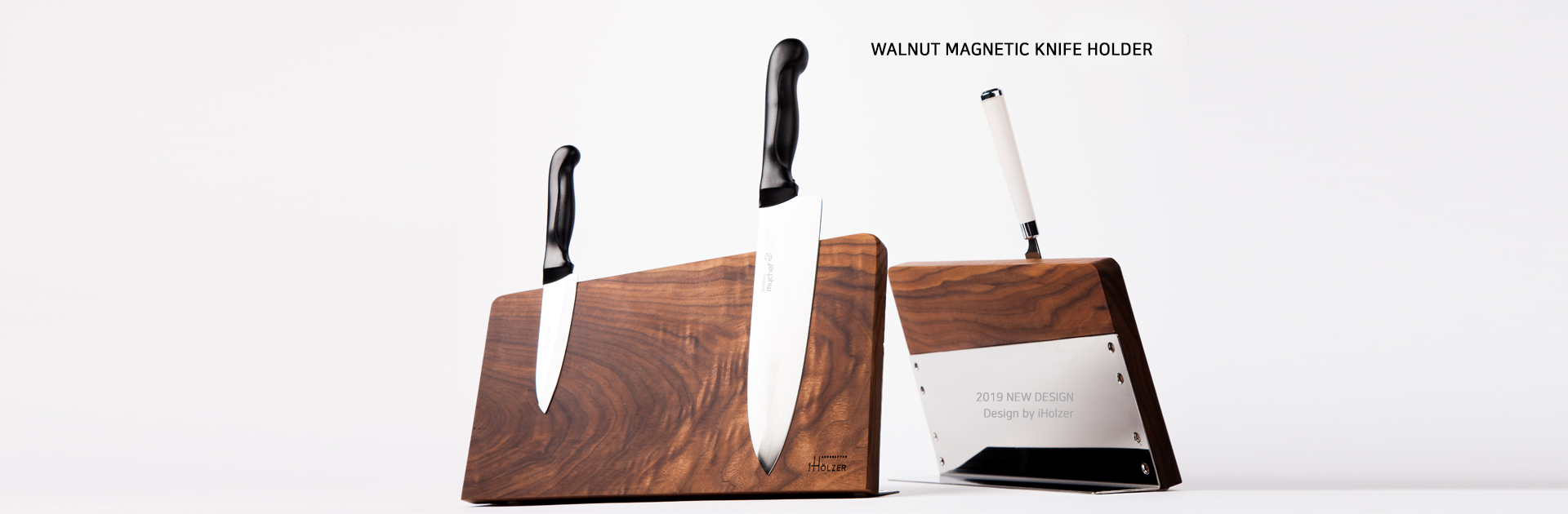 WALNUT MAGNETIC KNIFE HOLDER