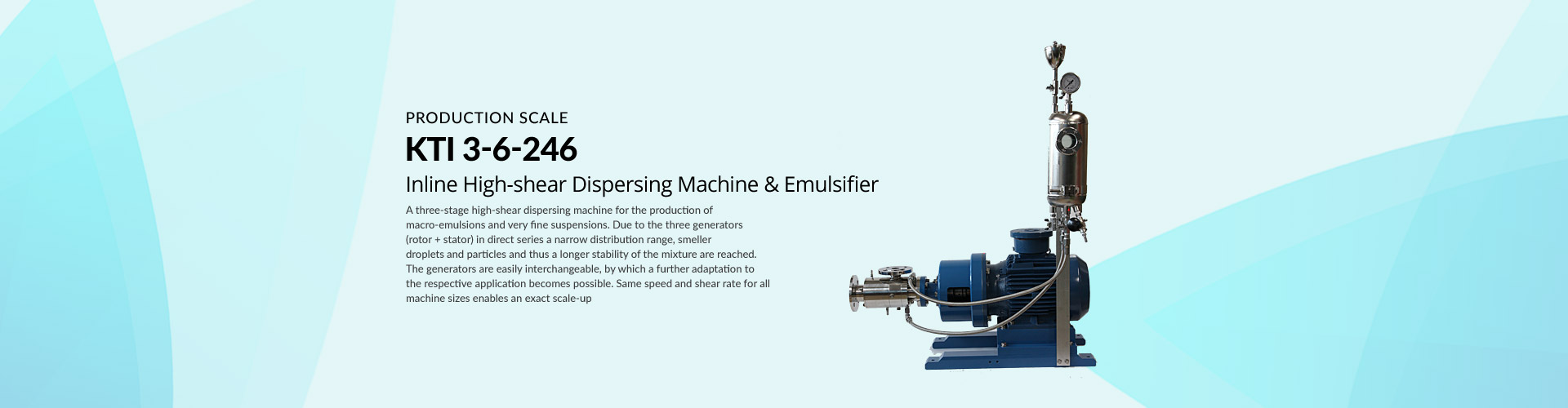 KTI 3-6-246 inline High-shear Dispersing Machine & Emulsifer